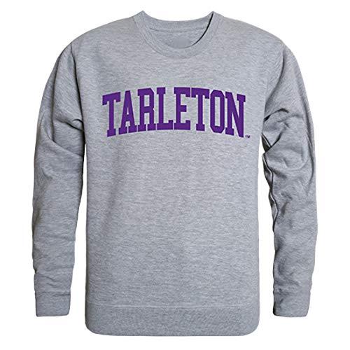 W Republic Tarleton State University NCAA Men's Game Day Crewneck Fleece Sweatshirt - Small, Heather Grey