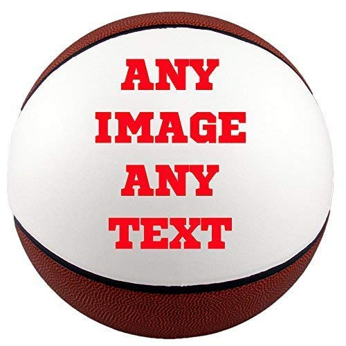 Personalized basketballs - Custom Photo Basketball Gift - Regulation Size Basketball - Any Image - Any Text - Any Logo