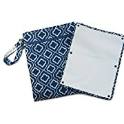 Sarah Wells  Pumparoo  for Breast Pump Parts, Wet Dry Bag with Staging Mat (Navy)