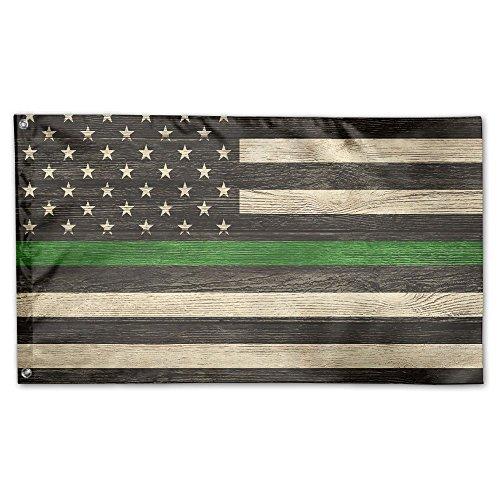 Thin Green Line Support Border Patrol American USA Flag Flag