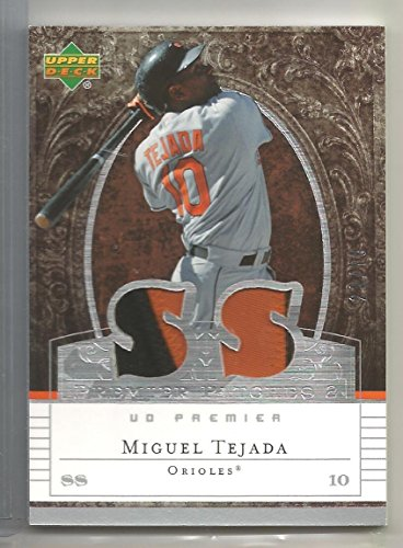 (2007 Upper Deck Premier Baseball Miguel Tejada Game Worn Patch Card # 23/75 )