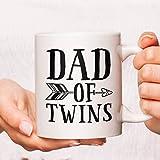 Dad Of Twins Coffee Mug, Fathers Day Mugs, Dad Coffee Mugs, Daddy Mugs, Papa Coffee Mug, Funny Dad Mugs, Father's Day Coffee Mug