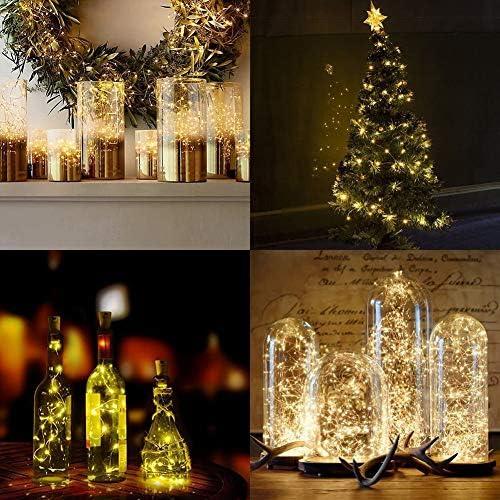 [2Er Pack] Solar Angetrieben String Beleuchtung, Lichterketten, 33Ft 100 LEDs, wasserdichte Drahtbeleuchtung, Zum Drinnen Draußen Weihnachtsbaum Halloween Dekoration (Warmweiß)