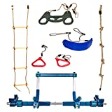 Bonobo Gym Deluxe Indoor Playground with Indoor Swing, Plastic Rings, Trapeze Bar, Climbing Ladder, and Swinging Rope …