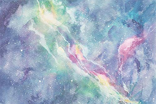 AOFOTO 10X7ft Angelic Pink Pastel Nebula Backdrop Abstract Watercolor Galaxy Painting Cosmic Texture with Stars Starry Night Sky Background Space Planets and Cloud Banner Photo Studio Props Vinyl