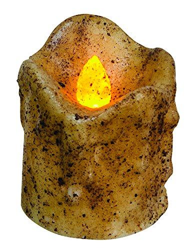 Burnt Ivory Mini Dripped Pillar Candle ()