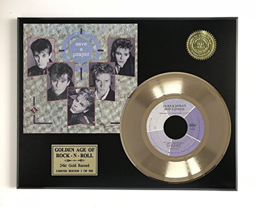 Duran Duran - Save A Prayer Ltd Edition Gold 45 Record Display M4