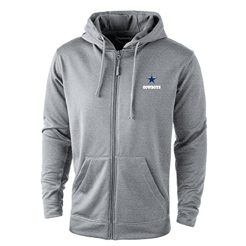 NFL Dallas cowboys Trophy Tech Fleece Full Zip Hoodie, XX-Large, Grey