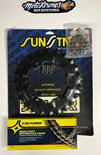 Chain & Sprocket kit for Honda CR125R CRF250R CRF250X 2004-2017 14t front 50t rear with Motoxtremes ()