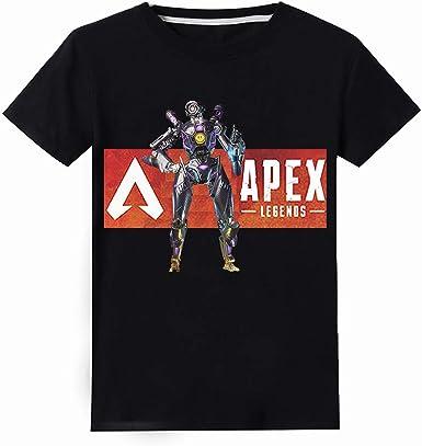 Apex Legends Camiseta Camiseta Casual de Manga Corta Tops de Hipster Blusas Deportivas Camisa Transpirable niños y niñas: Amazon.es: Ropa y accesorios