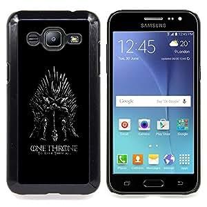 cool throne warrior evil mask costume Caja protectora de pl??stico duro Dise?¡Àado King Case For Samsung Galaxy J2