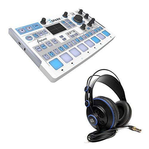 Arturia SparkLE Compact Hybrid Drum Machine With PreSonus HD7 Headphones by Arturia