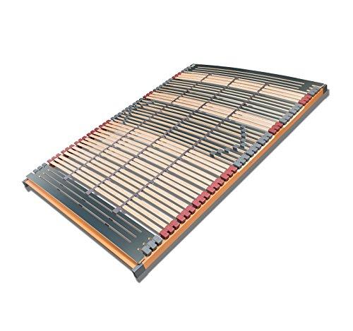 FMP Matratzenmanufaktur 7 Zonen Lattenrost Rhodos NV 44 Leisten Triokautschukkappen Lattenroste Mittelgurt 140x200 cm