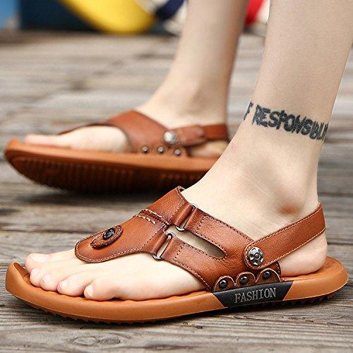 del La De del del Los LYZGF Sandalias Dedo Playa Jóvenes Hombres Verano De Pie De Ocasionales Los La Brown Moda Zapatillas Moda De De IwqZp