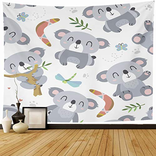 """Ahawoso Tapestry Wall Hanging 60""""x50"""" Little Baby Koala for sale  Delivered anywhere in Canada"""
