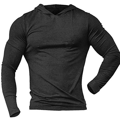 Alivegear Mens Bodybuilding Triblend Long-Sleeve Tapered Casual Sweatshirts Active Hoodies