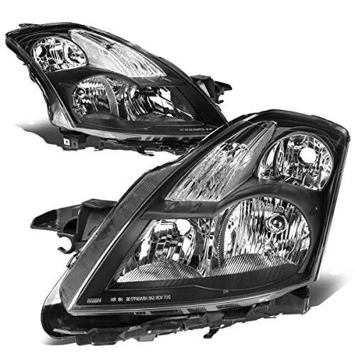 DNA Motoring Black clear HL-OH-071-BK-CL1 Pair of Headlight Assembly [07-09 Nissan Altima 2.5/3.5L]