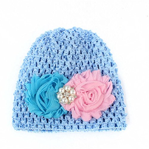 PHOTNO Toddlers Infant Baby Girl Flower Hollow Out Hat Headwear Hat (C) (Roman Head Wear)