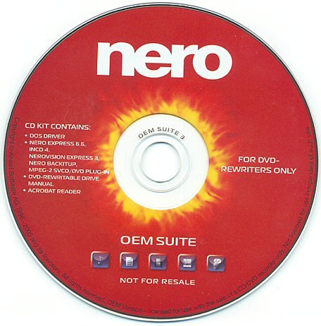 NERO OEM SUITE 1 SUPPORTS DUAL LAYER DVD BURNING AN
