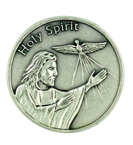 (Life is a Journey Jesus Christ with Holy Spirit Dove Pocket Token)