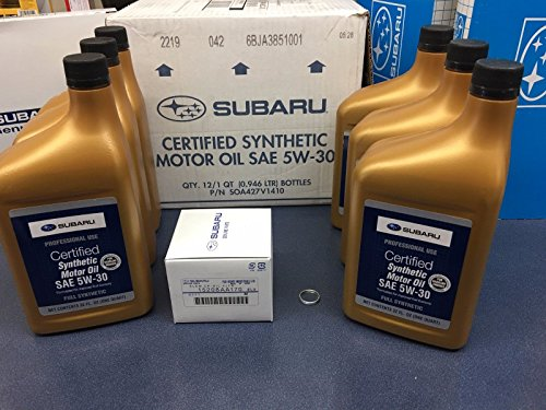 Genuine SUBARU Oil Change Kit Filter Gasket & 6 Qts Synthetic 5W30 Turbo WRX 2015-2018