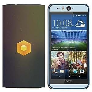 EJOOY---Cubierta de la caja de protección para la piel dura ** HTC Desire Eye M910x ** --Cubo simple