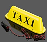 WellieSTR Large Size Yellow Taxi Cab Roof Top Illuminated Sign Topper Car 12V Super Bright Light Magnetic Waterproof Sealed Base 14 3/8'' x 4'' x 4'' with 39.4'' Cable Length