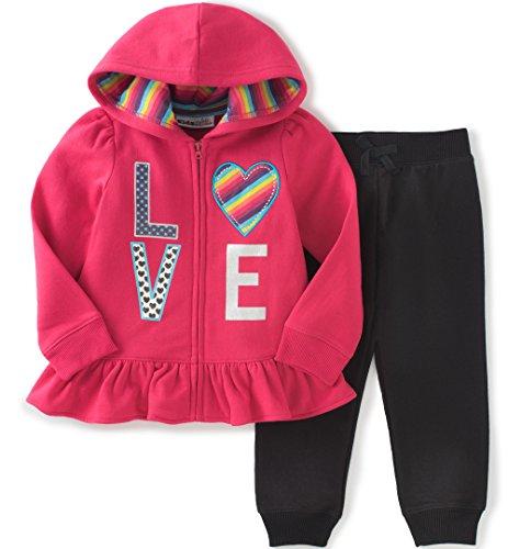 Kids Headquarters Baby Fleece Jog Set, Hot Pink, 3/6 -
