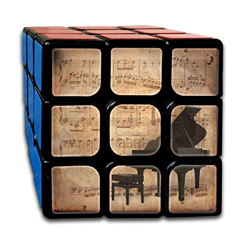 Cyclone Boys 3x3 Fantastic Speed Cube Sticker Piano and Retro Sheet Music Magic Cube 3x3x3 Puzzles Toys (56mm) (Breath Of The Wild Piano Sheet Music)