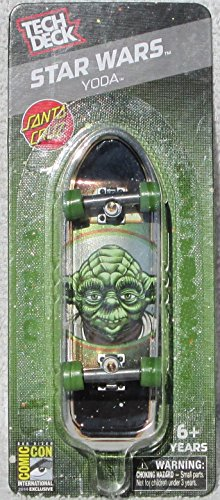 Tech Deck Santa Cruz 2014 SDCC Exclusive Star Wars YODA Mini Finger Skateboard