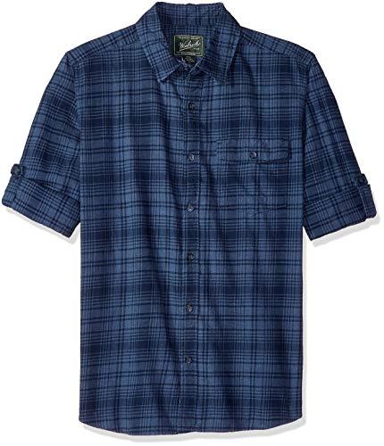 Alpine Outdoor Vent - Woolrich Men's Zen Hollow Convertible Sleeve Modern Fit Shirt, Alpine Blue, Large