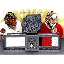 (CI) Malcolm Subban, Daniel Altshuller Hockey Card 2012-13 Between The Pipes Draft Day Jersey Silver 1 Malcolm Subban, Daniel Altshuller