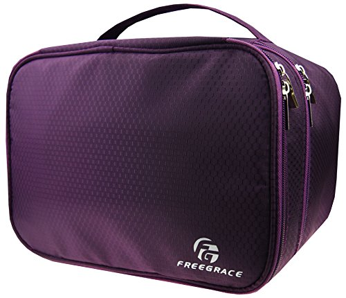 ravel Organizer Bag for Underwear, Bra, Cosmetic, and Toiletry Kit (Double Compartment Travel Bag)