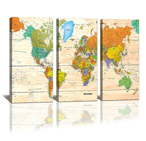 youkiswall art World MAP Canvas Art - Premium Canvas Art Pri