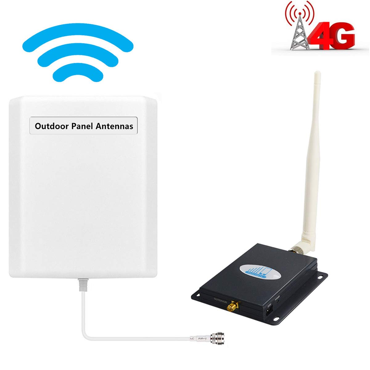 2baea1bdd64 Cell Phone Signal Booster AT T LTE 4G Cell Booster HJCINTL FDD Band 12 17  Wireless