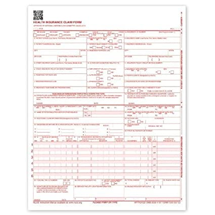 image about Cms 1500 Form Printable called CMS-1500 Laser Printer Professional medical States Type - 2500 Sheets, Revised 02/12