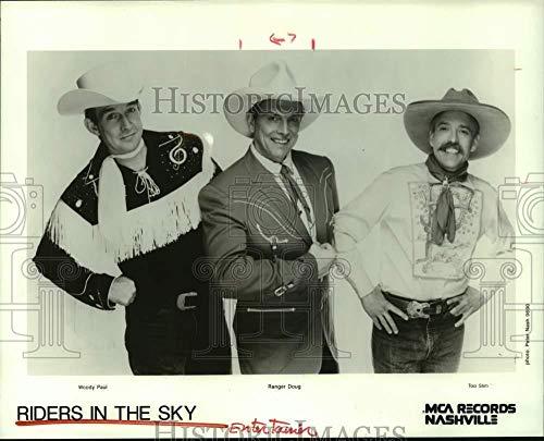 (1990 Press Photo Woody Paul, Ranger Doug, Too Slim are Riders in the Sky trio)