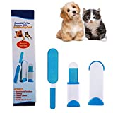 VJ Pet Hair Remover Brush,Clean Dog &Cats Fur Remover,Plastic Double-sided Clean Lint Brush for Pets/Family/Sofa/Clothes,Furniture Travel Hair Brush