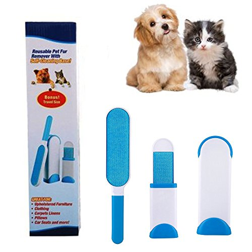 VJ Pet Hair Remover Brush,Clean Dog &Cats Fur Remover,Plastic Double-sided Clean Lint Brush for Pets/Family/Sofa/Clothes,Furniture Travel Hair Brush by VJ (Image #9)