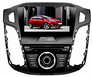 Eagle for 2012-2013 Ford Focus Car GPS Navigation DVD Player Audio Video System with Radio (AM/FM),Bluetooth Hands Free,USB, AUX Input,(free Map),Plug & Play Installation