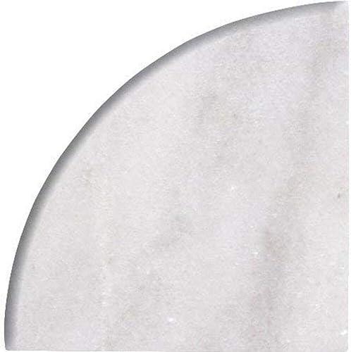 9 X 9 X 3 4 Round Edge Bianco Imperial Marble Corner Shelf Piece Both Sides Honed