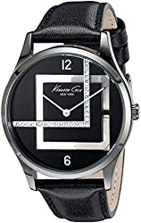 Kenneth Cole New York Women's KC2876 Transparency Analog Display Japanese Quartz Black Watch