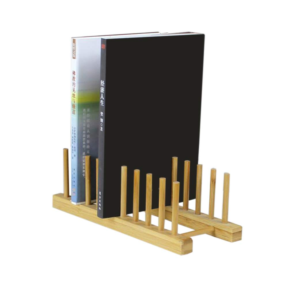 Jcnfa-Shelves Desktop Bookshelf Living Room Tea Set Kitchen Dish Rack Document Display Stand Bamboo One Multipurpose (Size : 271212cm)