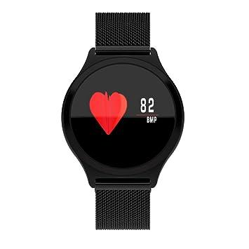 GYITENG Multifunción Smart Deportes Pulsera Resistente Al Agua Ip67 Frecuencia Cardíaca Presión Arterial Recordatorio Multi Idioma,El Acero Negro: ...