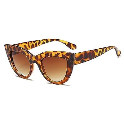 Lunettes de soleil de Cateye pour des femmes - lunettes de soleil de triangle de lentille de gradient rétro pour la conduite / vacances / voyage UV400