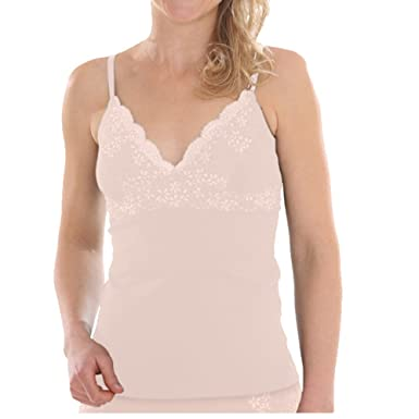41bbd0f8e0d0b5 Comazo Earth Damen BH-Hemd mit Spitze Bio-Baumwolle/Elasthan: Amazon ...