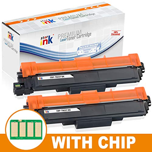 [with Chip] Starink Compatible Toner Cartridge Replacement for Brother TN227 TN 227 TN223 Use with HL-L3210CW HL-L3230CDW HL-L3270CDW HL-L3290CDW MFC-L3710CW MFC-L3750CDW MFC-L3770CDW Printer 2 Pack