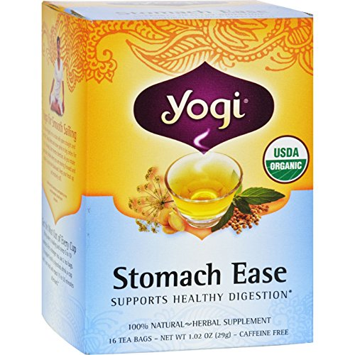 Yogi Tea Stomach Ease - Caffeine Free - 16 Tea Bags - 95%+ Organic -