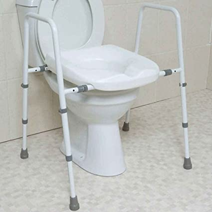 Toilet Frame With Seat.Mowbray Toilet Frame And Seat Adjustable In Height And Width