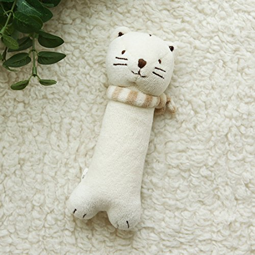 Cat Toy Organic ([Organic Shop] 100% Organic Cotton Baby Stuffed Animal Doll (Cat Rattle))